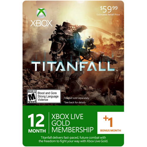 Interactive Commicat Xbox Live Titanfall 12-month Gold Card (