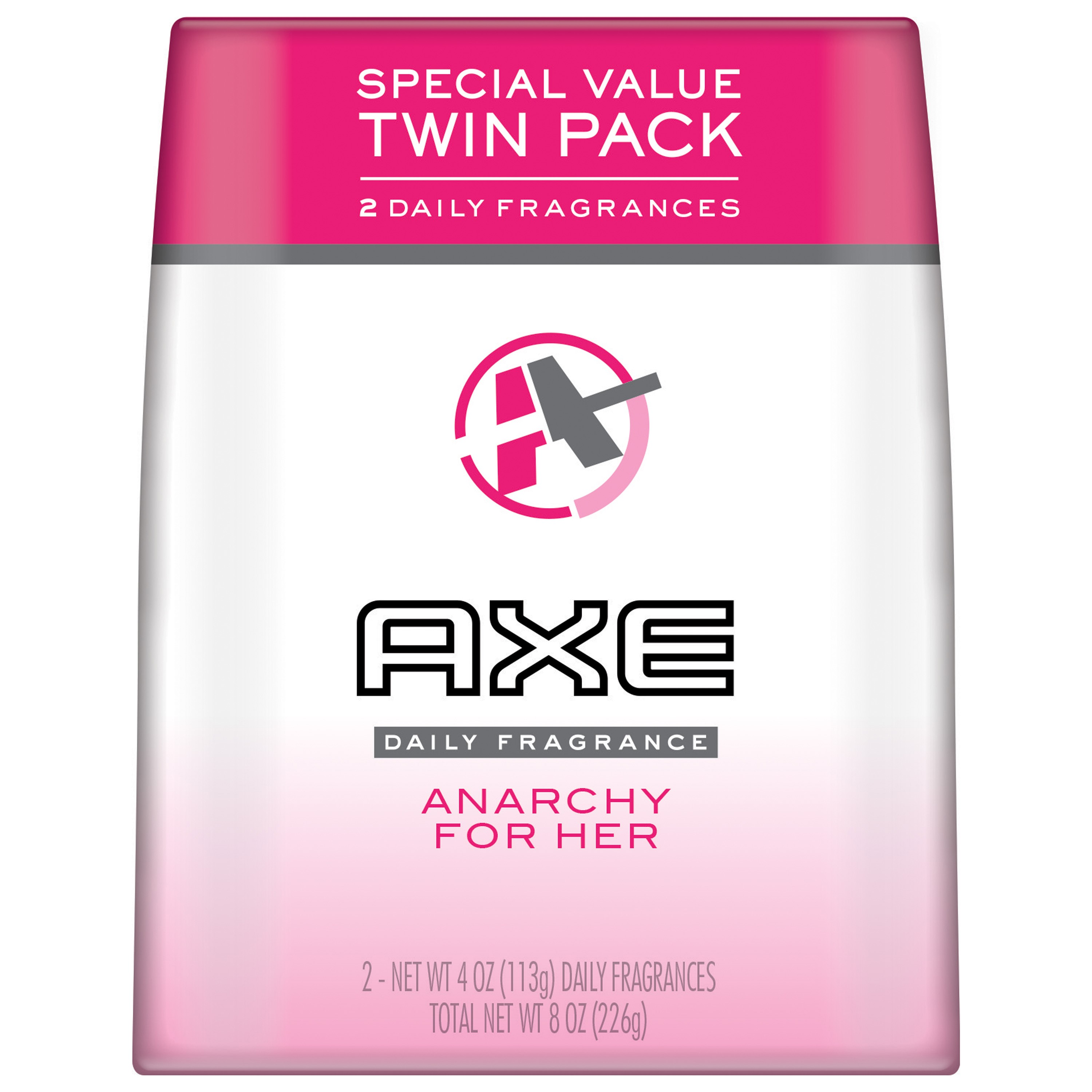AXE Body Spray for Women, Anarchy, 4 Oz, Twin Pack