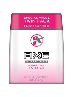 AXE Anarchy Body Spray for Women, 4 Oz, Twin Pack