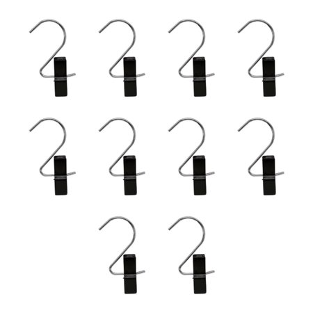 10 PCS BLACK Plastic Boot Bag Hanger Clip Hook Display Store Fixture ()