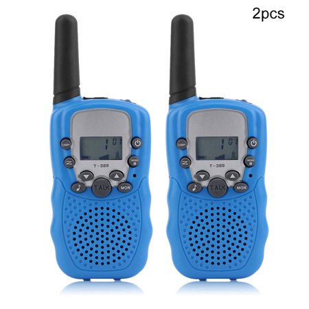 New Arrival 2 Pcs Handheld Children Walkie Talkie Radio Intercom T388 Multi-Channels Two Way Radio Educational Games For Kids