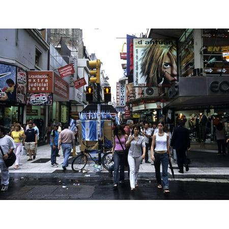 Buenos Aires Shopping, Calle Florida Pedestrian Mall, Argentina Print Wall Art By Holger (Gardens Mall Florida)