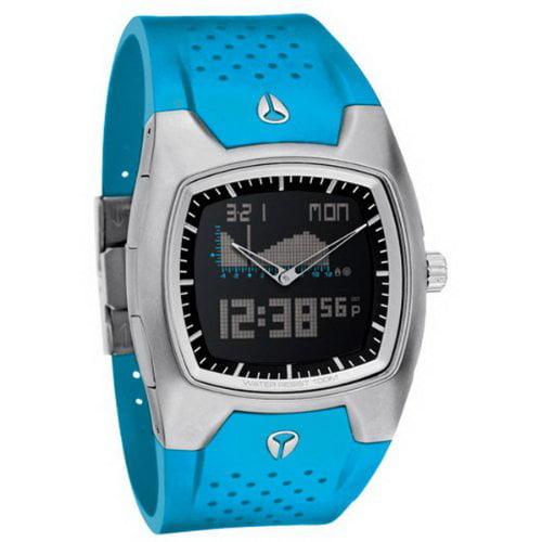 Nixon Super Hero Black Dial Silicone Quartz Mens Watch A1...