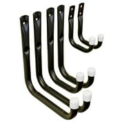 Shepherd Hardware 8088E Heavy Duty Steel Garage Storage / Utility Hooks, 6 Pack
