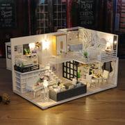 Creative gift diy cabin wood craft arts building model toy birthday gift Valentine's Gift