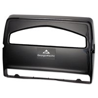 Georgia Pacific Professional Safe-T-Gard Toilet Seat Cover Dispenser,1/2Fold, 16 3/8 x 2 1/2 x 16 3/8, Black
