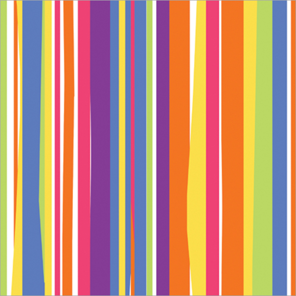 Cindus 76-031 Gift Wrap, 5-Feet x 30-Inch, Colorful Stripes Multi-Colored