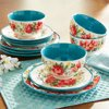 The Pioneer Woman Stoneware Vintage Floral Dinnerware, 12 Piece