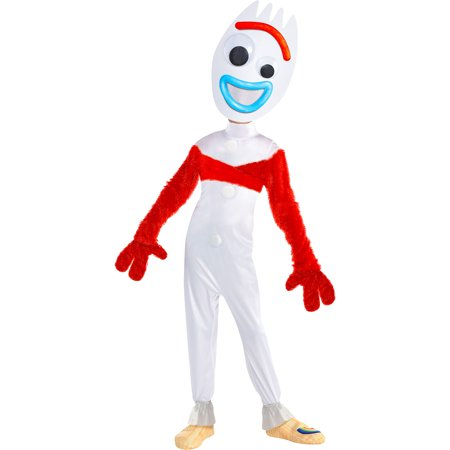 Party City Toy Story 4 Forky Costume for Children, Size 3T to 4T, Includes a Jumpsuit, a Mask, Gloves, a Wrap, and