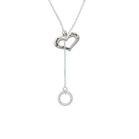 Courage Strength Wisdom Infinity Ring - Believe Faith Prayer Heart Lariat Necklace