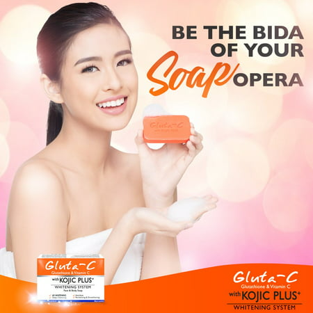 Gluta -C Glutathione & Vitamin C with Kojic Plus whitening system face & body soap 60