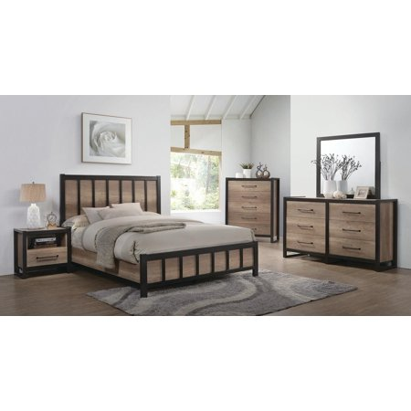 Coaster Edgewater 5-Piece Eastern King Bedroom Set in Weathered Oak  206271KE-S5
