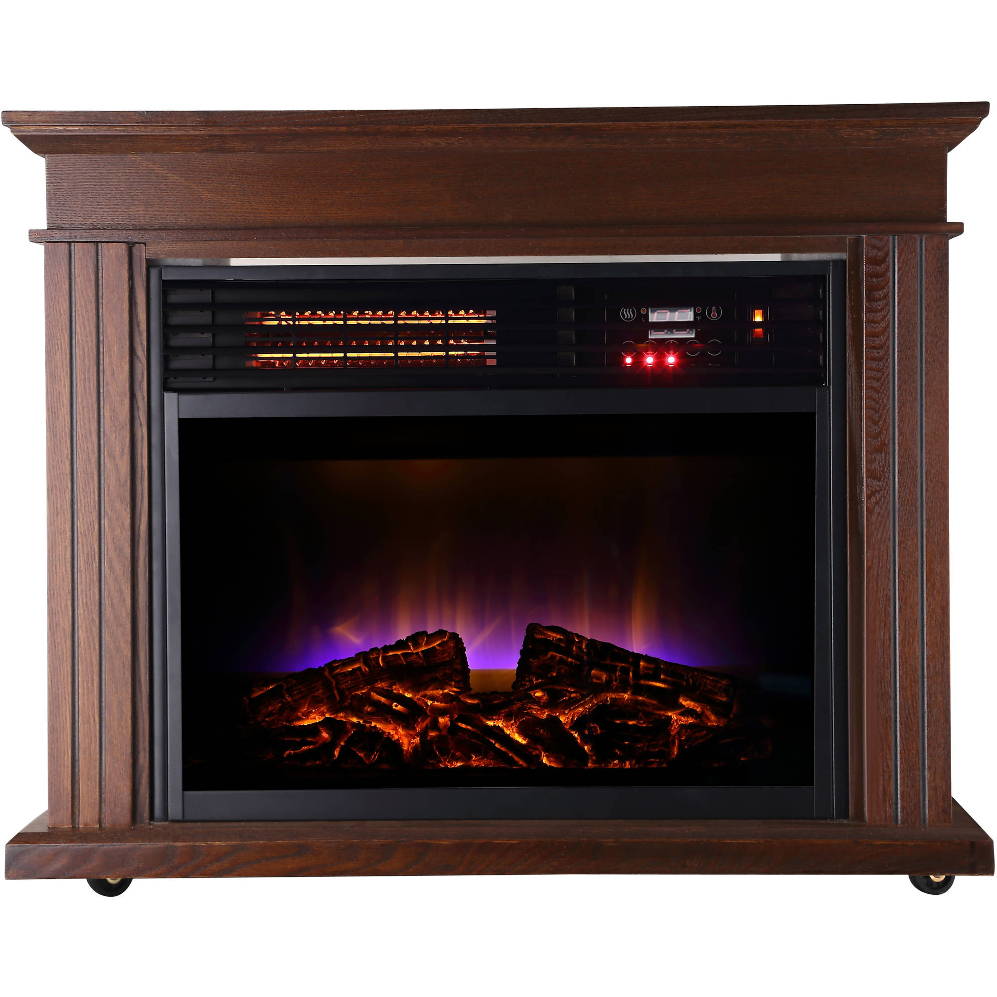 LifeSmart LifePro Dark Oak 1500 Watt Infrared Electric Portable Space Heater  - Walmart.com