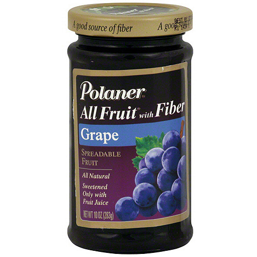 Polaner All Fruit Grape Spreadable Fruit With Fiber, 10 oz (Pack of 12)