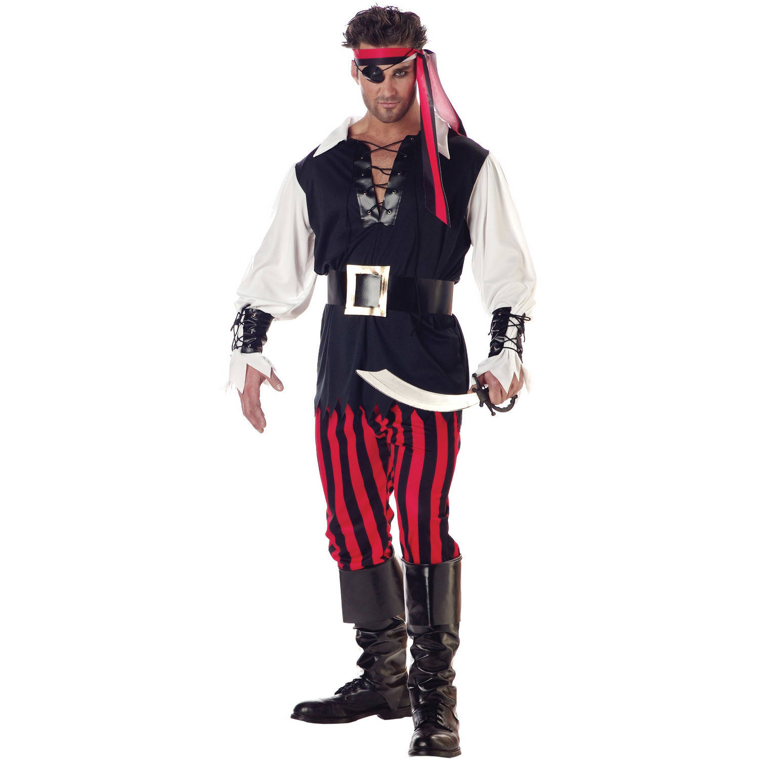 cutthroat pirate men's adult halloween costume - walmart