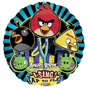 LOONBALLOON Singing Balloons, 28″ ANGRY BIRDS SING-A-TUNE