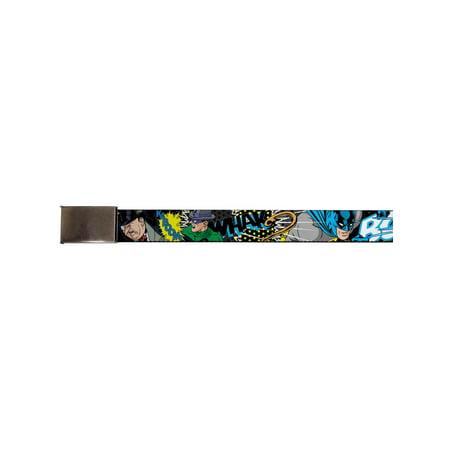 Batman DC Comics Superhero Crushing Villains Web Belt Chrome (Kids Batman Belt)