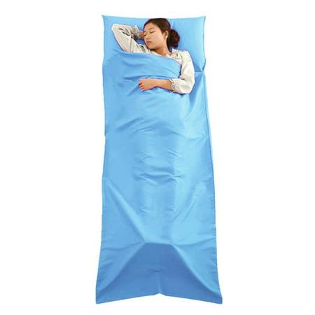 - Sleeping Bag Liner Travel Sleep Sack Sheet Hiking Camping Tent Mat Pad,Blue