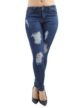 Clothing, Shoes & Accessories Ymi Fit For Every Body Cuffed Skinny Jean Medium Wash Blue Size 9 Stretch To Have A Unique National Style