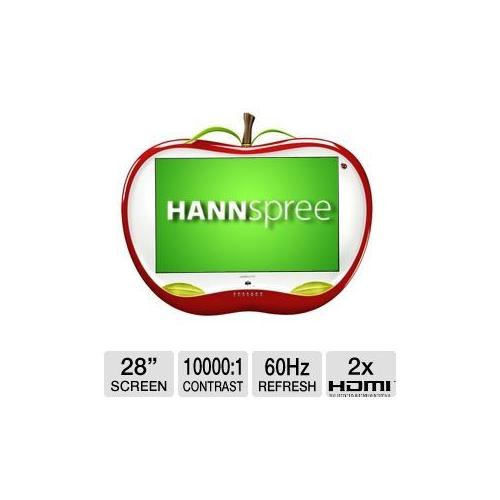 """Refurbished Hannspree ST28FMUR 28"""" LCD HDTV - 1920 X 1200, 16:10, 60Hz, 5ms, 10000:1 Dynamic, HDMI Cable, Universal Remote"""