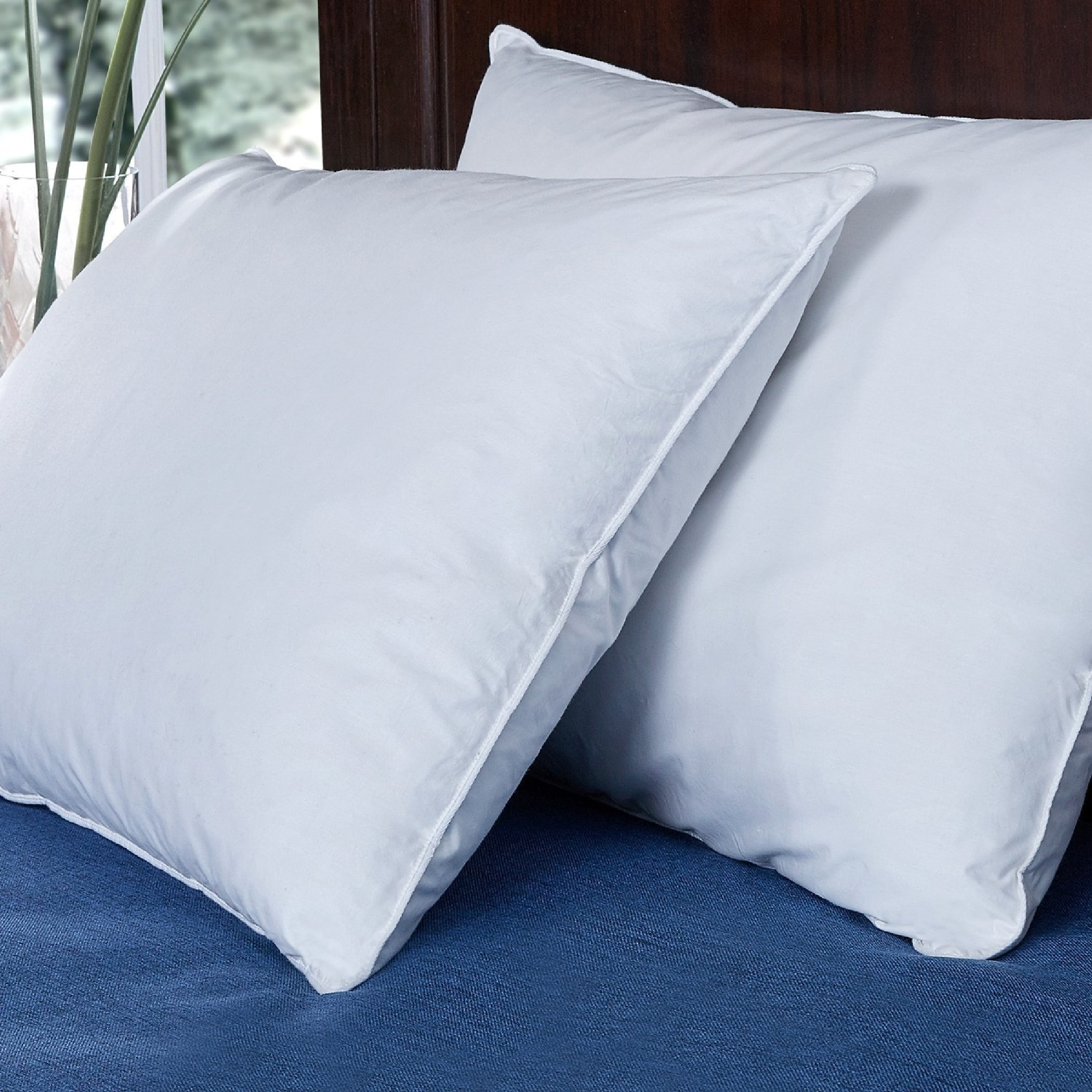St. James Home  Duck Feather Bed Pillow (Set of 2) - White