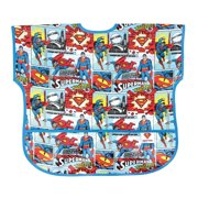 DC Comics Waterproof Junior Bib, Superman Comic (1-3 Years), Sized to fit 1-3 Years with adjustable Velcro closure
