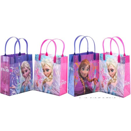 Disney Frozen Elsa 12 Reusable Party Favors Medium Goodie Gift Bags - Disney Frozen Cupcake Toppers