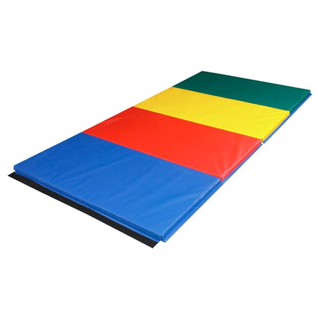 Fabrication Enterprises 38-2023 5 x 10 ft. Rainbow Mat cloth hook and eye Ends, 2 in. Eco-friendly Matting