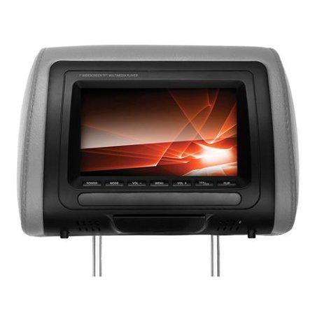 Ssl Shr73m 7 Inch Widescreen Single Universal Headrest Monitor With Dvd Player, Wireless Remote, Includes Black, Gray, Tan Interchangeable Skins - Dvd+rw, Dvd-rw, Cd-rw - Dvd Video, Vcd, Mp4 (shr73m)