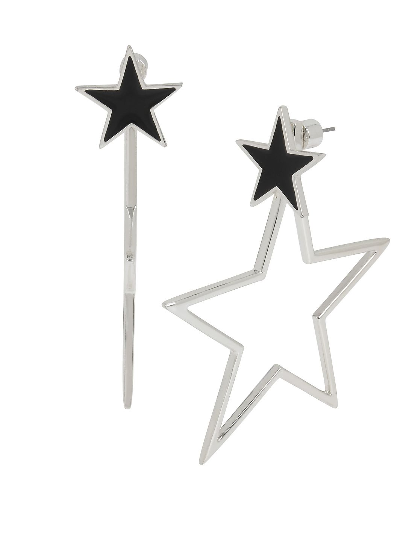 Starry Night Star Front & Back Earrings