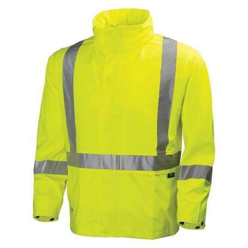 HELLY HANSEN 70261_360-L Rain Jacket,Hi-Visibility Yellow,L G1839455