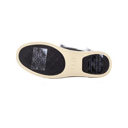 UGG Australia Croft Sheepskin Lace Up Fashion Sneakers, Black - image 4 of 6