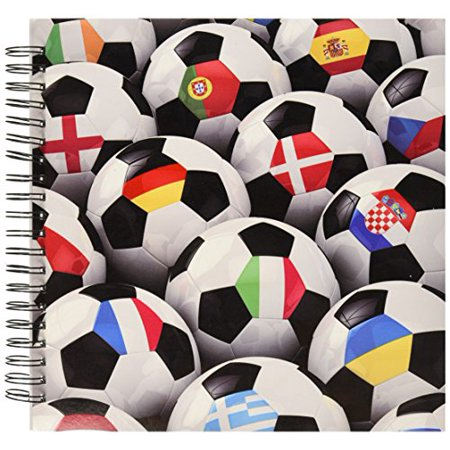 3dRose ~ England Germany Portugal Spain, Soccer Memory Book, 12 by