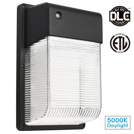 (LEONLITE 16W Dusk to Dawn LED Wall Light, Security Area Lighting, Outdoor LED Wall Mount Light, 150W Equivalent DLC Qualified, ETL-listed)