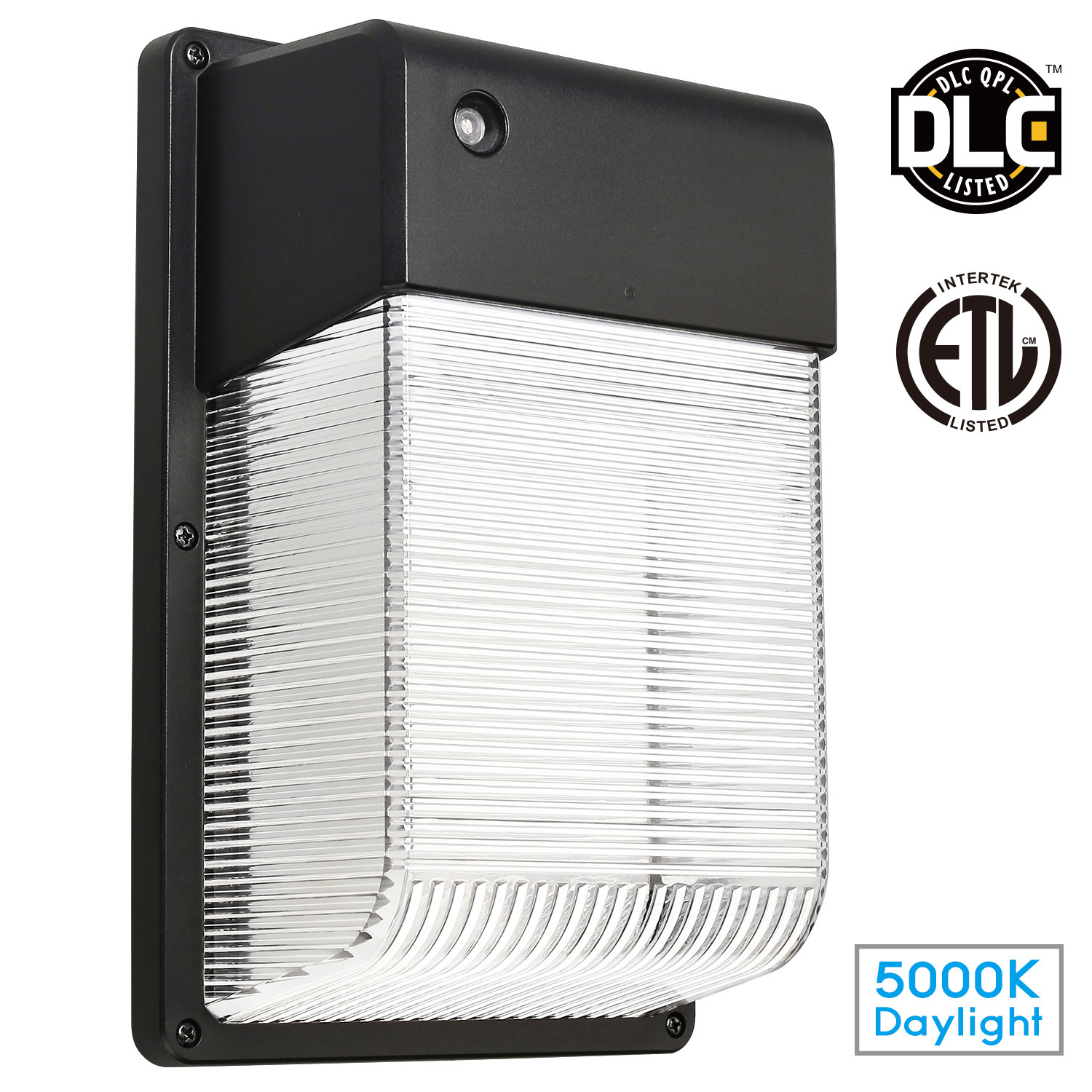 LEONLITE 16W Dusk to Dawn LED Wall Light, Security Area Lighting, Outdoor LED Wall Mount Light, 150W Equivalent DLC Qualified, ETL-listed