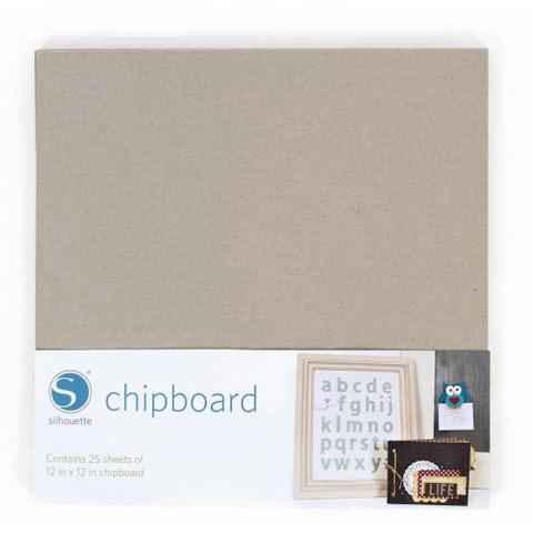 Silhouette Chipboard Kraft 12X12