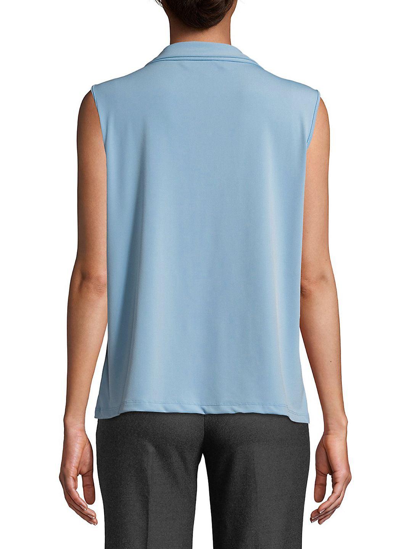 Karl Lagerfeld Paris Sleeveless Tie Neck Blouse Walmartcom
