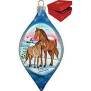 GDeBrekht 757-002 Riding Family Glass Ornament Drop