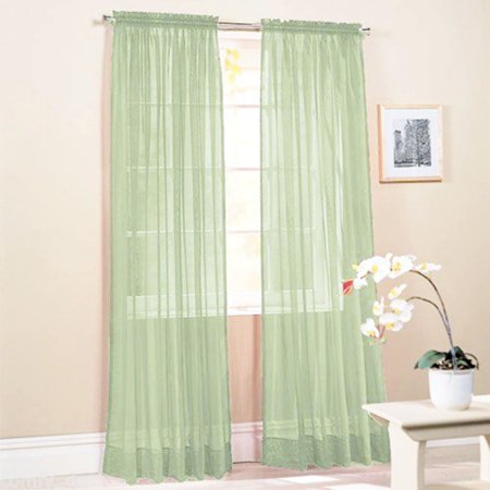 Opaque Bright Rose (Sheer Voile Window Grommet Short Curtain Panels for Bathroom &)