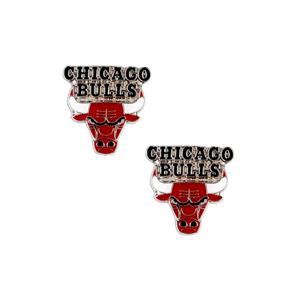 Chicago Bulls Post Stud Sports Team Logo Earring Set NBA Charm Gift
