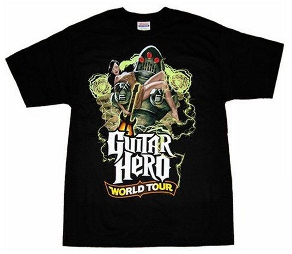 Headline - Guitar Hero World Tour Robot Video Game Music Black Adult  T-Shirt - (Large) - Walmart.com