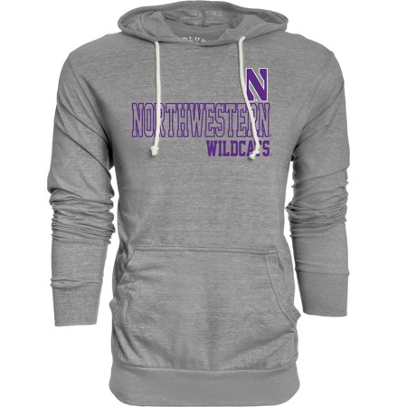 - Northwestern Wildcats Adult NCAA Big Soft Story Hooded Long Sleeve Pullover - Gray