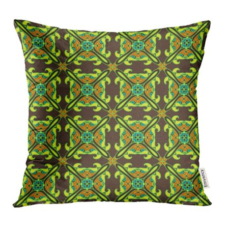 CMFUN Colorful Abstract Tiled Colorful Beautiful Chocolate Classic Damask Delicate Pillow Case Pillow Cover 20x20 inch Throw Pillow - Chocolate Mousse Tile