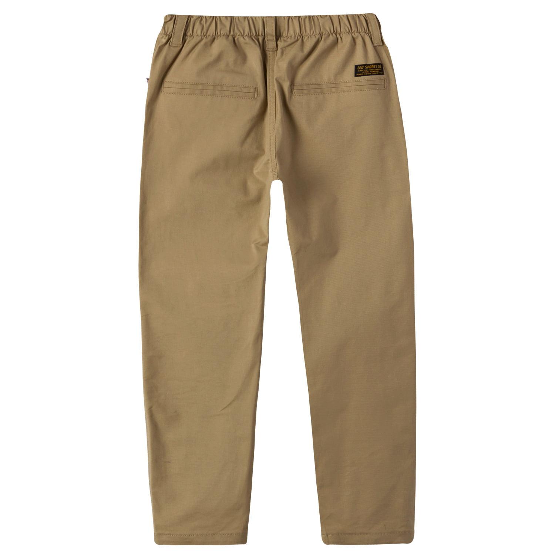 55cea6de4f Leo&Lily Boys Kids 100% Cotton Twill Elastic Waist Regular Fit Pants  Trousers (Khaki,8) LLB4A01