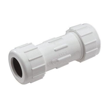 King Brothers CPC-1250 SCH 40 PVC Compression Coupling, 1-1/4""