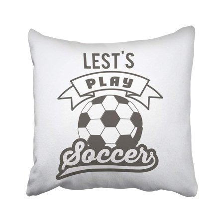 ARTJIA Ball Football Soccer Design Championship Club Competition Emblem Equipment Game League Pillowcase Pillow Cover 20x20 inches