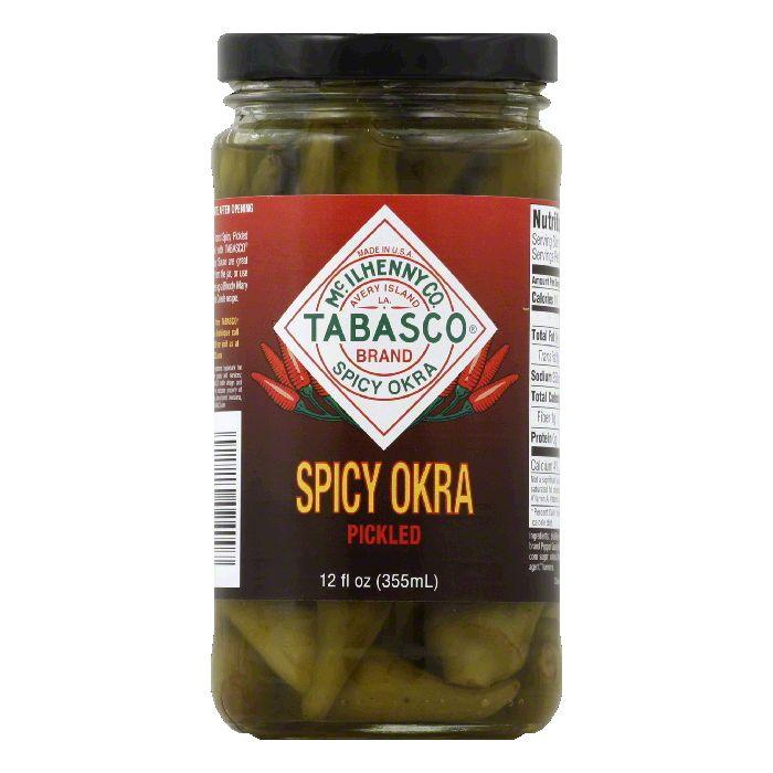 Tabasco Vegetable Pickled Okra, 12 OZ (Pack of 12)