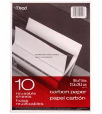 "Acco 4PK 10 Count 8.5"" x 11"" Carbon Paper In Folder Black Carbon Mill Finish Pa by"