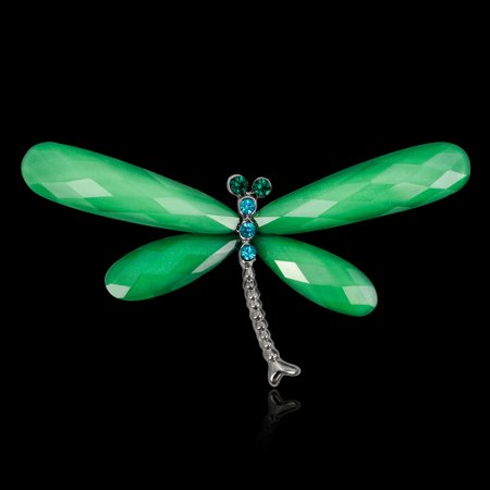 Alloy Dragonfly Accessory Rhinestone Lapel Pin Metal Brooch Jewelry Women Gift - image 4 of 6