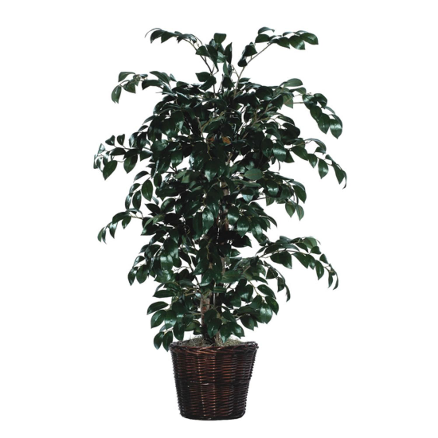4' Artificial Potted Natural Sakaki Bush - Unlit
